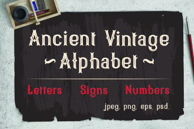 Vintage Victorian alphabet + Bonus