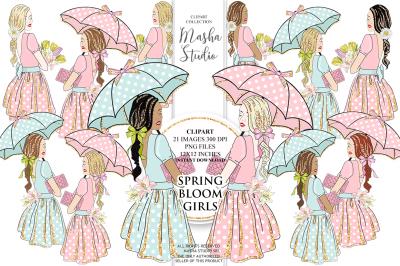 SPRING BLOOM GIRLS clipart