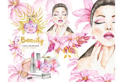 Watercolor Beauty Clip art, Make Up, Wedding, Fashion