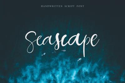 Seascape script font
