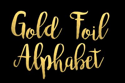 Gold Foil Alphabet Clip Art Foil Letters Golden Numbers 68 Elements