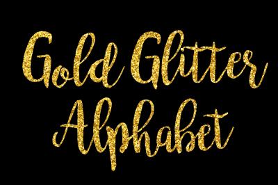 Gold Glitter Alphabet Clip Art Glitter Letters Numbers 68 Elements