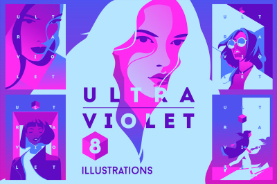 8 Ultraviolet Theme Illustrations