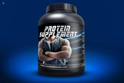 Protein Supplement Label Template