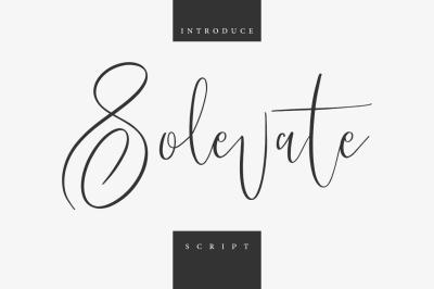 Solevate Typeface