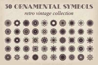 50 Vector Ornamental Symbols