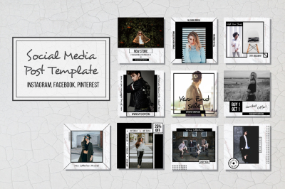 Geometric Social Media Post Template