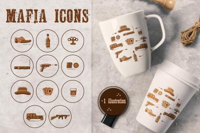 Mafia icons.