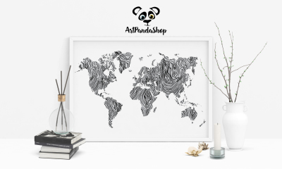 world map silhouette rustic wood print