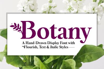 Botany Font Family
