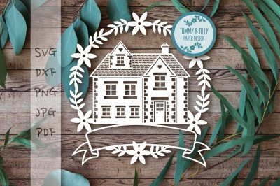Family Home Garland SVG DXF PNG PDF JPG