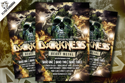Darkness Heavy Metal Flyer Template