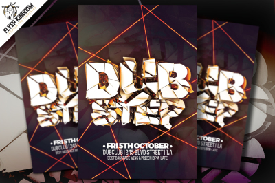 Dubstep Flyer Template