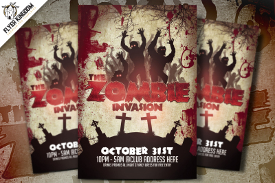The Zombie Invasion Flyer Template