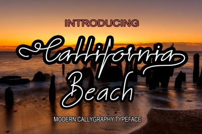 California beach font duo