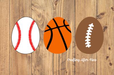 Basketball Baseball Football Easter Egg