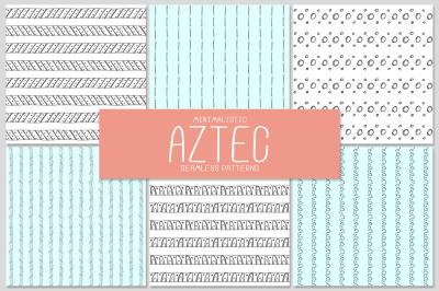 6 AZTEC seamless patterns