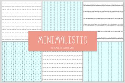 6 MINIMALISTIC seamless patterns
