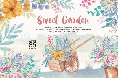 Watercolor Sweet Gaerden