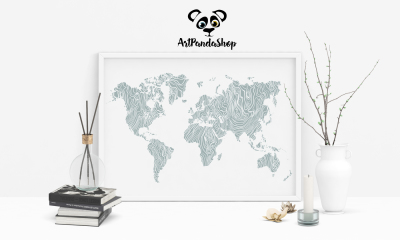 World map home decor printable World map Poster