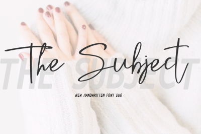 The Subject Font Duo + 8 Qoutes
