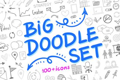 Big Doodle Set 100+ icons