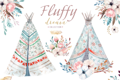 Fluffy dream. Boho collection