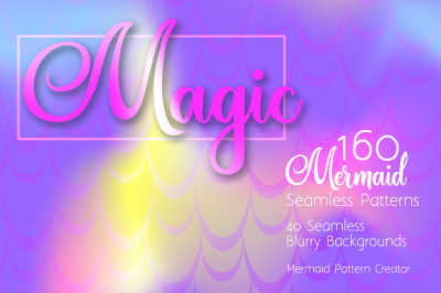 Mermaid Seamless Patterns & Backgrounds