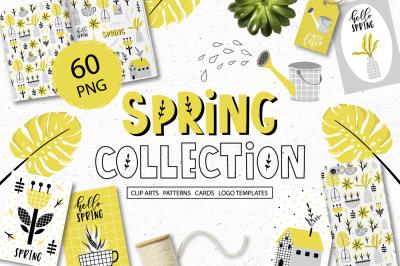 Spring Clip art, logo, cards & tags