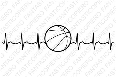 Cardio basketball SVG files for Silhouette Cameo and Cricut.