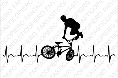 Extreme cardio bicycle freestyle SVG files.