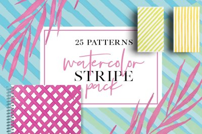 Watercolor Stripe Pack