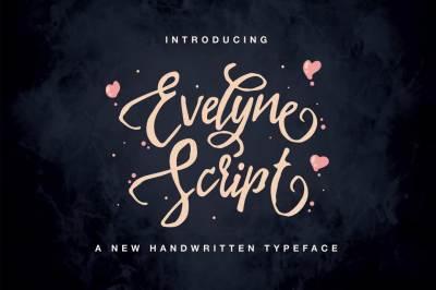 Evelyne Script Typeface