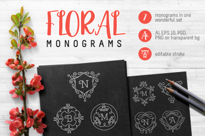 Monograms set