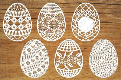Easter Eggs SVG files for Silhouette Cameo and Cricut.