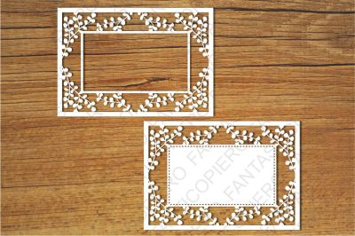 Ornamental Frame (1) SVG files for Silhouette Cameo and Cricut.