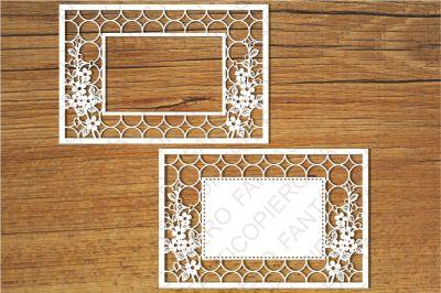 Ornamental Frame (3) SVG files for Silhouette Cameo and Cricut.