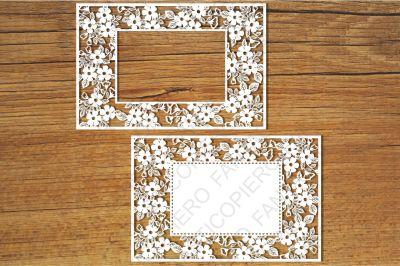 Ornamental Frame (5) SVG files for Silhouette Cameo and Cricut.