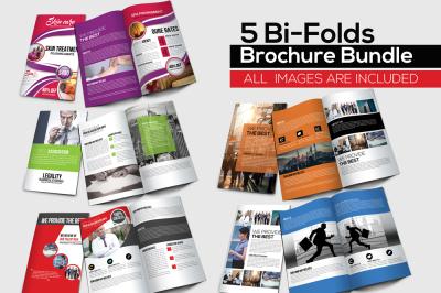 10 Business Multi Use Bi-fold Brochures Bundle