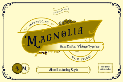 Magnolia Vintage Typeface