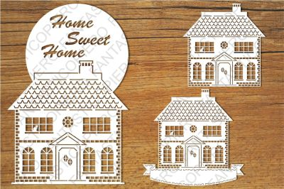 Home Sweet Home (3) SVG files for Silhouette Cameo and Cricut.