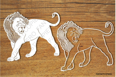 Lions SVG files for Silhouette Cameo and Cricut.