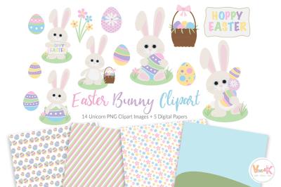Easter Bunny Clipart | Egg Hunt Easter Clipart