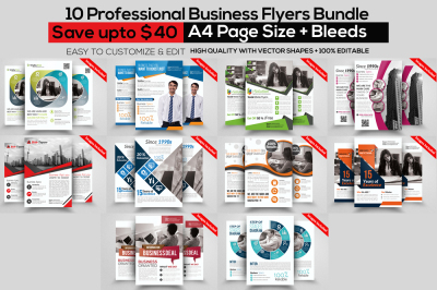 10 Marketing Consultant Business Flyer Bundle