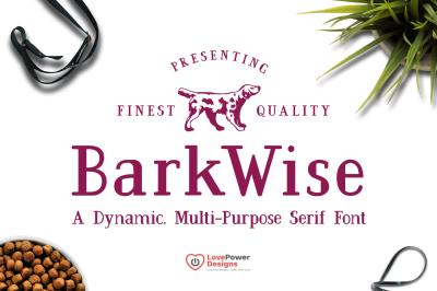 BarkWise - Multi-Purpose Serif Font