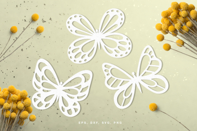 Butterflies digital cut file (svg, dxf, png, eps)