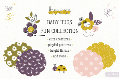 Baby Bugs hand drawn set