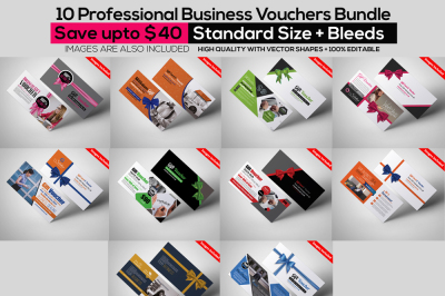 10 Business Vouchers Bundle