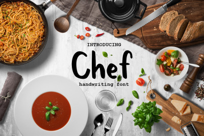 Chef handwritten brush font