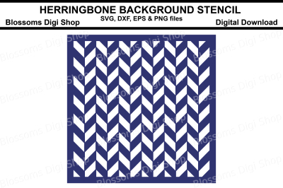 Herringbone Background Stencil SVG, DXF, EPS and PNG files